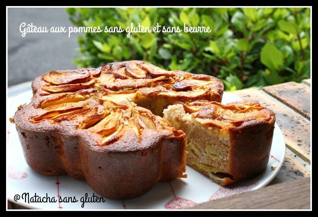 Gâteau aux pommes sans gluten et sans beurre